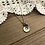 Thumbnail: Little Button Charm Necklace with Pyrite