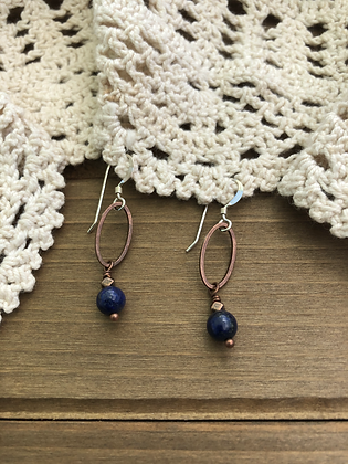 Drop Earrings with Lapis