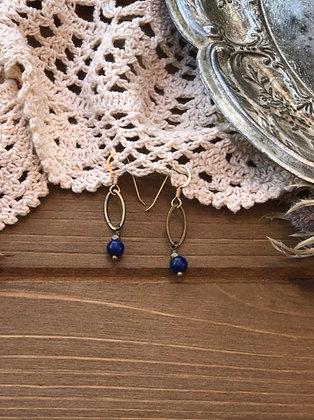 Drop Earrings in Lapis