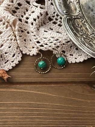 Ring Earrings with Turquoise