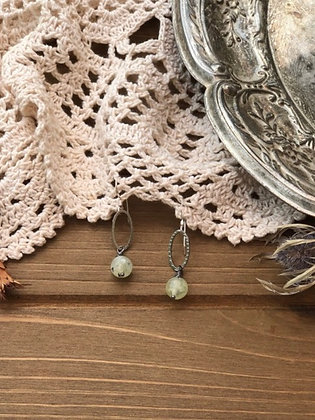 Drop Earrings with Prehnite
