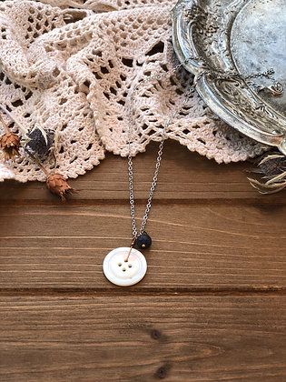 Button Charm Necklace with Iolite