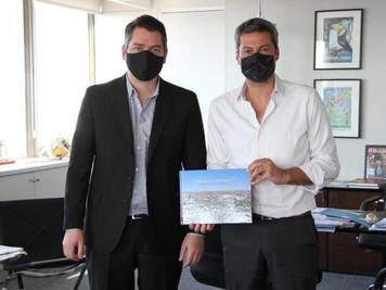 Martín Perez se reunió con el ministro de Turismo de Nación, Matías Lammens