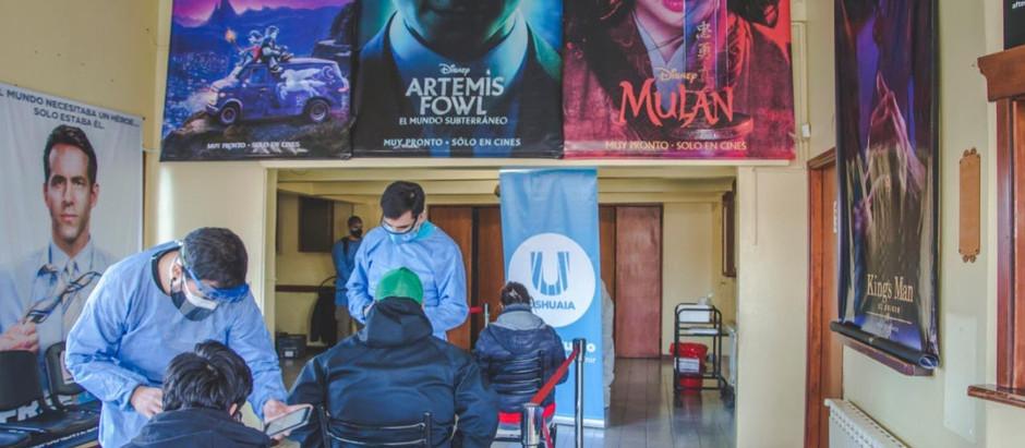 Comenzaron los hisopados en el cine Packewaia