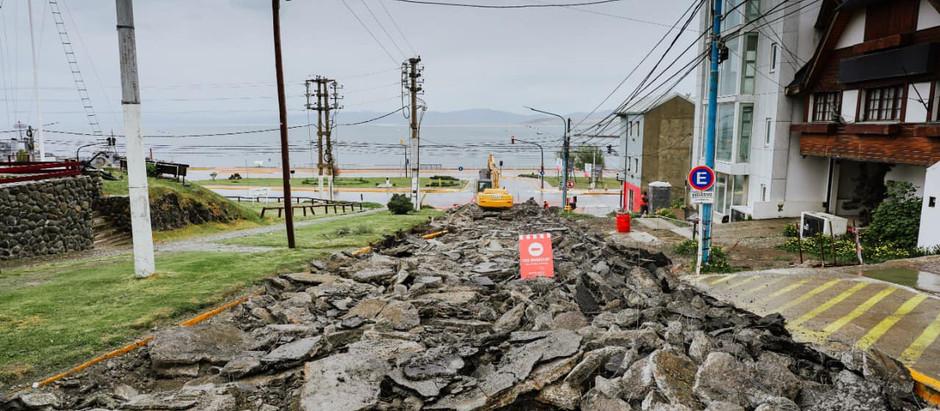 Ushuaia: el municipio avanza con diversas obras en la ciudad