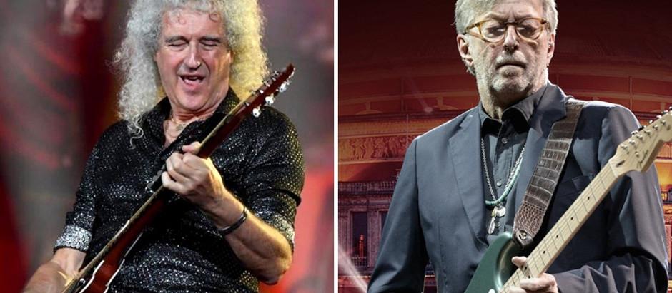El guitarrista Brian May criticó la postura antivacunas de Eric Clapton