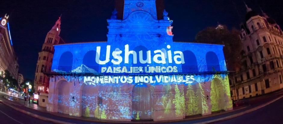 Ushuaia presentó el destino con un mapping en el Cabildo de Buenos Aires