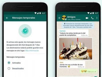 WhatsApp cambió su opción de mensajes temporales a máximo 90 días
