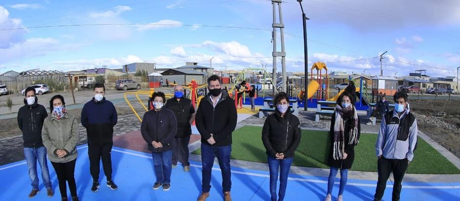 Perez inauguró un nuevo playón deportivo en Río Grande
