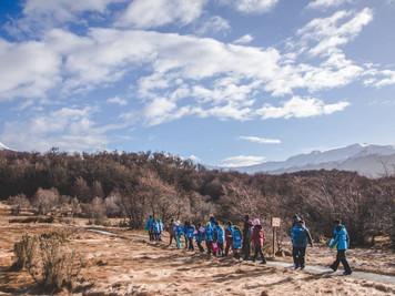 Alumnos de la escuela experimental Las Lengas visitaron el Parque Nacional