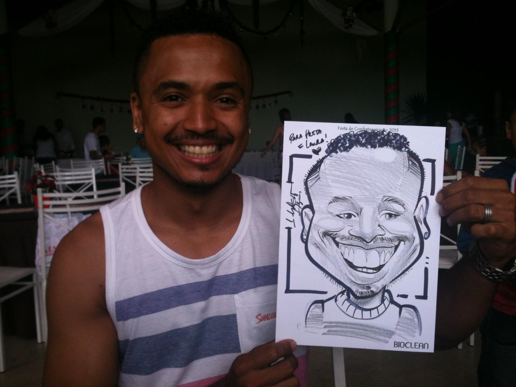 Caricaturas ao vivo em papel/caneta