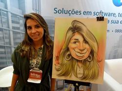 Caricaturas ao vivo em papel Paraná
