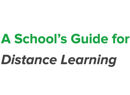 A School's Guide for Distance Learning