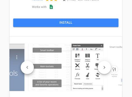 Handy Tech Tip - Power Tool Google Sheet Add On