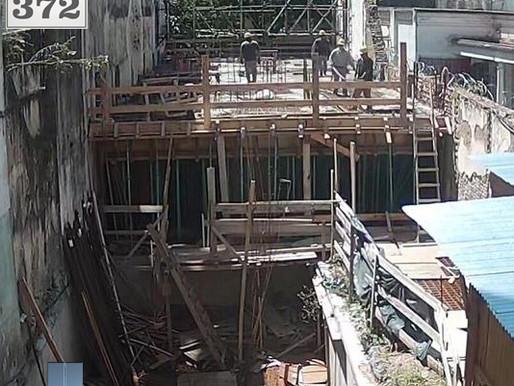 Rojas 372 - Losa del 1º piso hormigonada