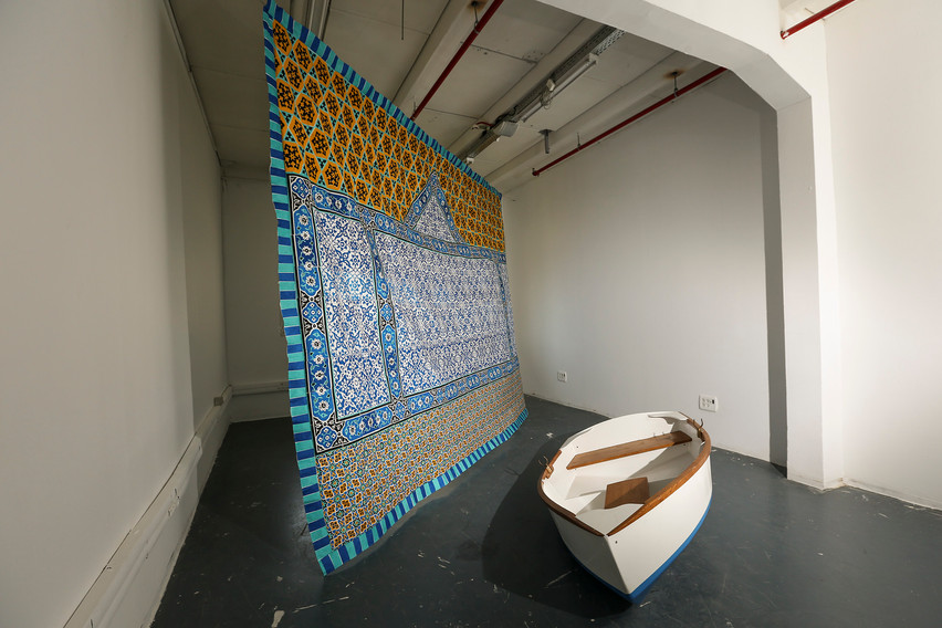 Boat and Tapestry