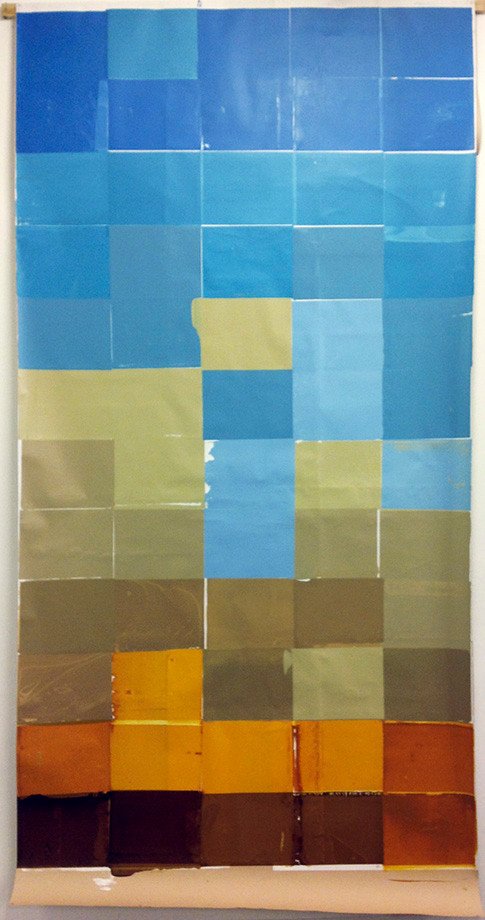 Desert, screen print on paper 300x180 cm