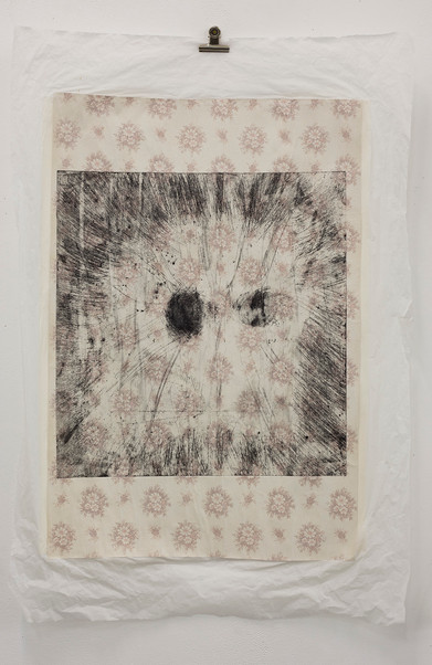 Etching on multilayered paper