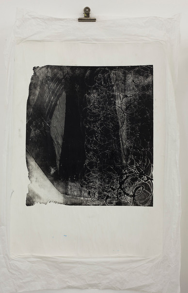 Aquatint on multilayered paper