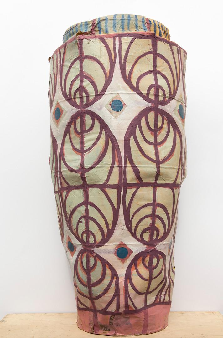 Paper Vase, Paper Shellac Oil paint