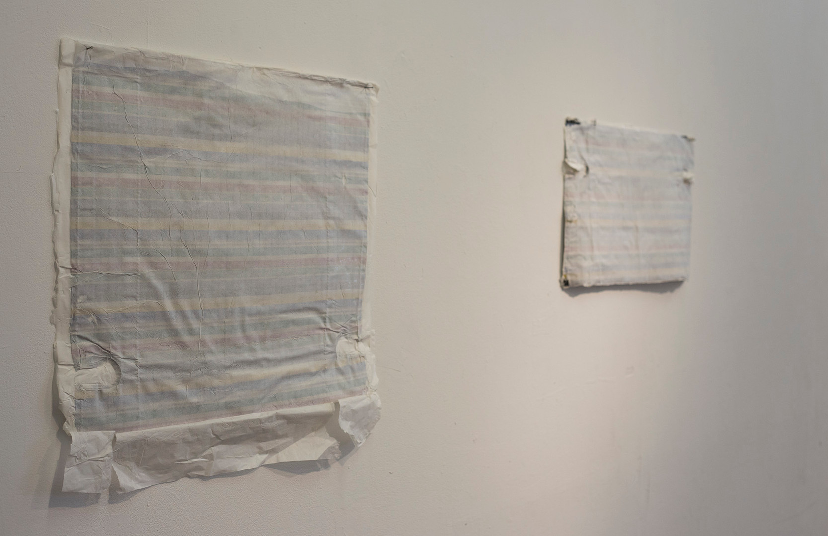 Hold Me, installation view redy made and rice paper