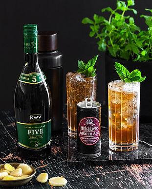 F&L-Ginger-Ale-&-KWV-5yr-Brandy-w-Mint-&