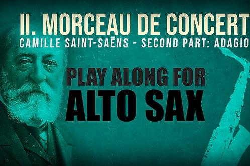 Morceau de Concert 2nd Part - Saint Saëns, Alto Saxophone