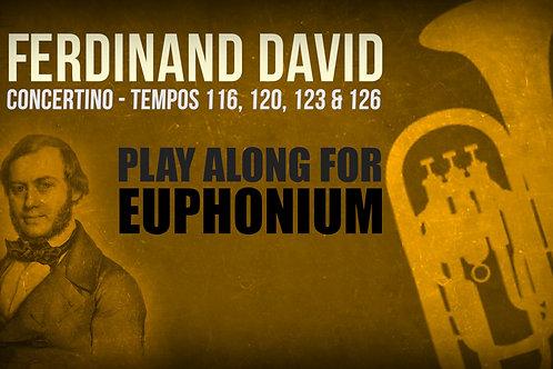 CONCERTINO (F. DAVID) - Solo BOMBARDINO  (Tempos: 116, 120, 123 y 126)