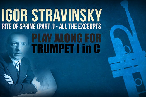 RITE OF SPRING (I. Stravinsky) - 1st PART (All the excerpts) - TRUMPET I in C