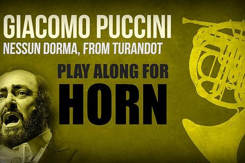 Giacomo Puccini, Nessun Dorma (de TURANDOT) - TROMPA SOLO