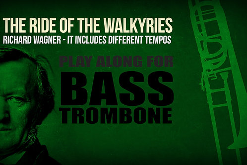 Cabalgata de las Valquirias (extracto) - WAGNER - Para Trombón III y IV