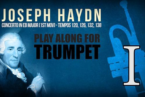 J.HAYDN - TRUMPET CONCERTO (both Eb & Bb) - 1ST MOV - Tempos: 120, 126, 132, 136