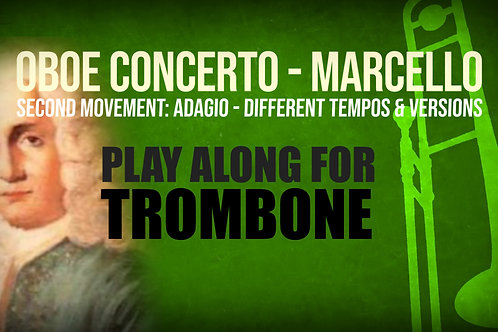 OBOE CONCERTO - 2nd Movement by A. MARCELLO - Trombone