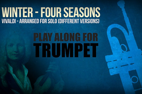 WINTER (FOUR SEASONS) by A. Vivaldi - For solo TRUMPET in Bb