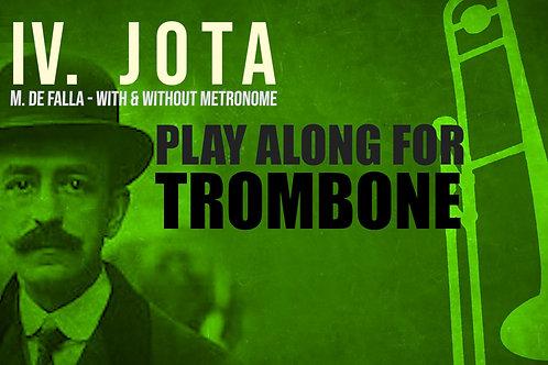 IV. JOTA (Siete canciones españolas) de M. de FALLA - Para solo TROMBONE