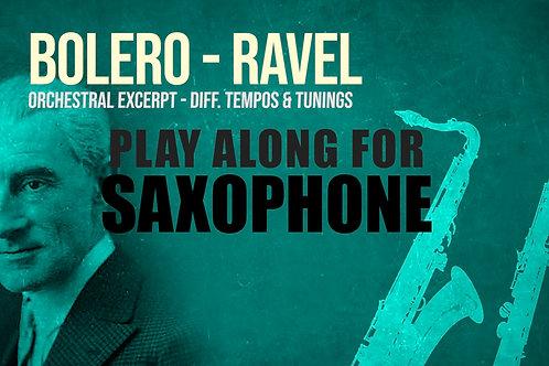 SAXOFÓN (Tenor y Soprano) - BOLERO (M. RAVEL) - EXTRACTO ORQUESTRAL