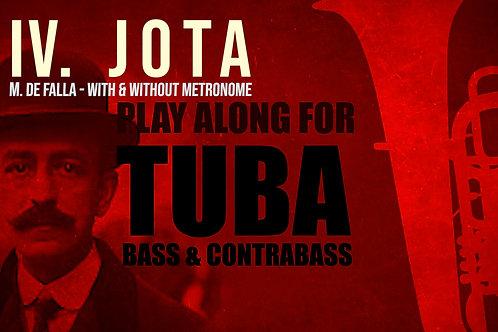 IV. JOTA (Seven Spanish Folksongs) by M. de FALLA - For solo TUBA