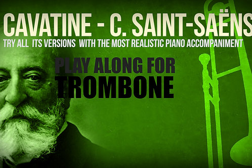CAVATINE - SAINT-SAËNS - For solo TROMBONE and PIANO