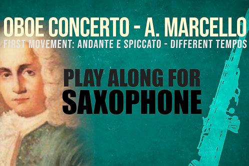 OBOE CONCERTO de A. MARCELLO - Arr. para saxo soprano / tenor