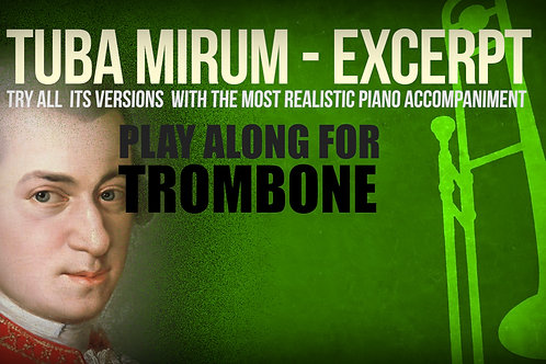 TUBA MIRUM (orchestral excerpt) - W. A. MOZART - For TROMBONE