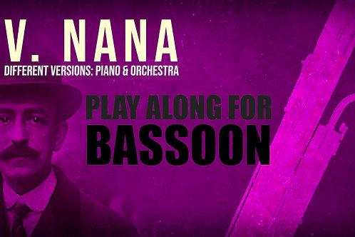 V. NANA (Seven Spanish Folksongs) by M. de FALLA - For solo BASSON