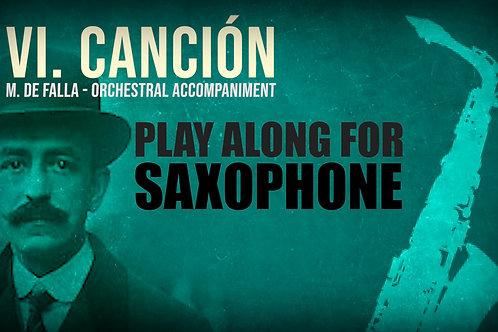VI. CANCIÓN (Seven Spanish Folksongs) by FALLA - For solo A.SAXOPHONE