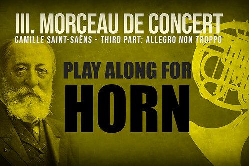 Morceau de Concert 3a Parte - Saint Saëns, TROMPA en F