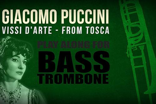 Giacomo Puccini, Vissi d'Arte (de TOSCA) - SOLO TROMBÓN BAJO