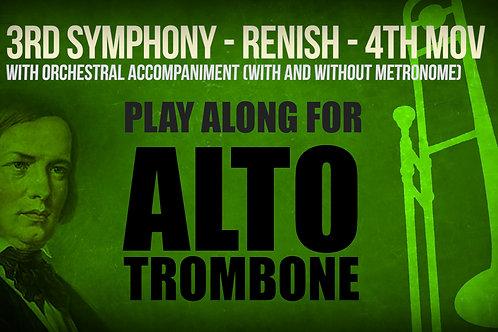 Orchestral Excerpt - SCHUMANN 3RD - 4TH MOV - For solo ALTO TROMBONE
