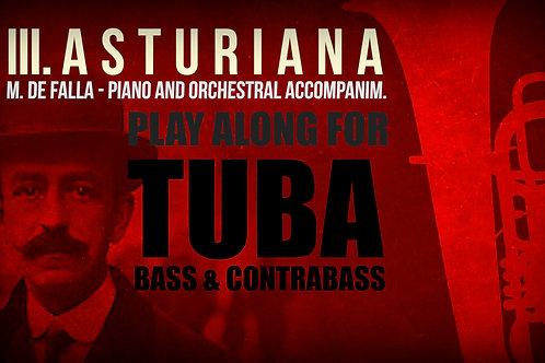 III. ASTURIANA (Siete canciones populares) de M. de FALLA - Para TUBA solo