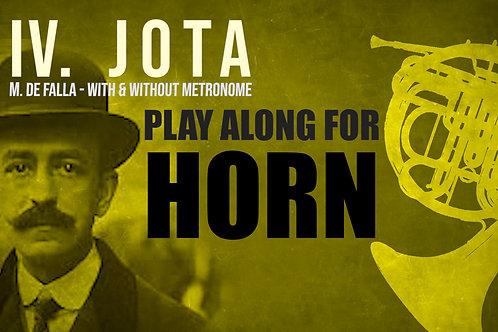 IV. JOTA (Siete canciones españolas) de M. de FALLA - Para TROMPA solo