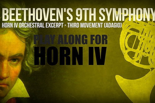 SYMPHONY 9TH (BEETHOVEN) - HORN IV - 3RD MOVEMENT - Orchestral Excerpt