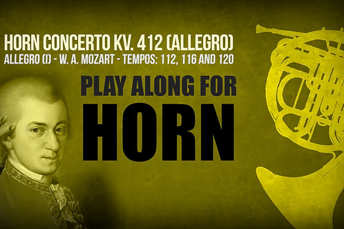 HORN CONCERTO KV. 412 - ALLEGRO (First Mov) - Different TEMPOS (in F and D)