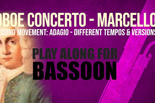 OBOE CONCERTO - 2nd Movement by A. MARCELLO Bassoon